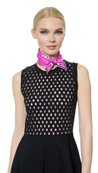 Anya Hindmarch Nocturnal Scarf Neon Pink