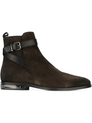 Just Cavalli Buckle Fastening Boots Brown