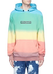 Palm Angels Rainbow Tie Dye Cotton Hoodie Multi Colour