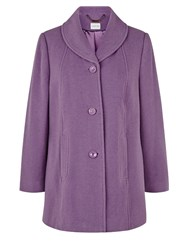 Eastex Mauve Shawl Collar Coat Purple