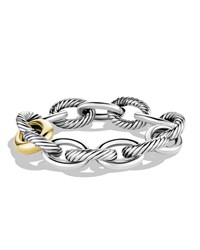 Oval Extra Large Link Bracelet With Gold David Yurman Red