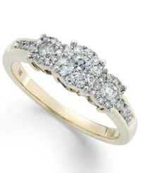 Prestige Unity Diamond Engagement Ring 1 2 Ct. T.W. In 14K White Gold Yellow Gold