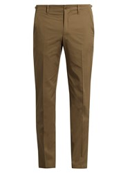 Maison Martin Margiela Slim Leg Cotton Chino Trousers Khaki