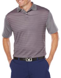 Callaway Striped Opti Dry Performance Polo Quiet Shade