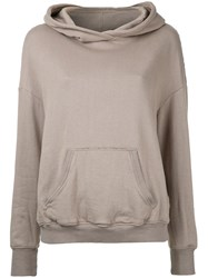 Cityshop Front Pocket Hoodie Brown