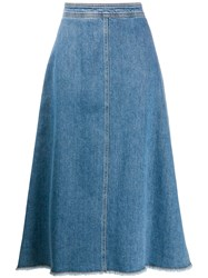 Philosophy Di Lorenzo Serafini A Line Denim Skirt 60