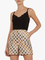 Ted Baker Siina Scallop Detail Top Black