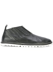 Marsell Pleated Loafer Shoes Men Leather Rubber 42 Black