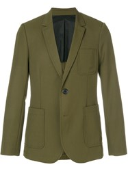 Ami Alexandre Mattiussi Half Lined Two Buttons Jacket Green