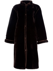 Yves Saint Laurent Vintage Sheepskin Coat Brown