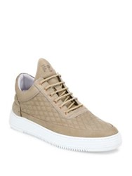 Filling Pieces Quilted Calf Leather Sneakers Nude