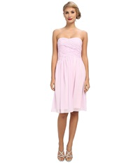 Donna Morgan Anne Long Torso Chiffon Petal Women's Dress Pink