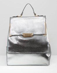 Liquorish Metallic Backpack Silver
