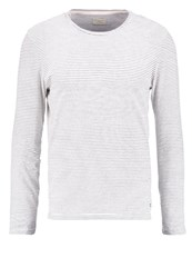 Selected Homme Shhheritage Long Sleeved Top Papyrus Dark Sapphire Off White