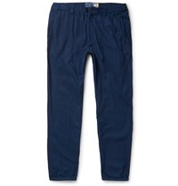 Blue Blue Japan Tapered Cotton Dobby Trousers