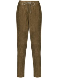 Fabiana Filippi Elasticated Waist Trousers Brown