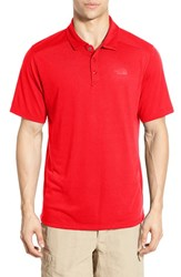 The North Face Men's 'Crag' Flashdry Polo Fiery Red