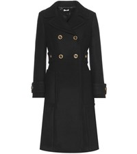 Miu Miu Wool Coat Black