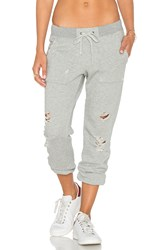 Pam And Gela Destroyed Sweatpant Gray