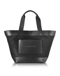 Alexander Wang Black Canvas Tote Bag W Leather Pocket