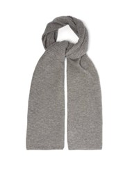 Allude Waffle Knit Cashmere Scarf Grey