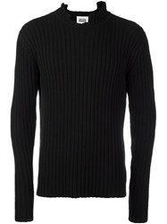 Christopher Shannon Chunky Rib Jumper Blue