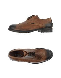 Scapa Footwear Lace Up Shoes Men Khaki