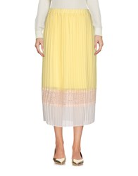 Just For You 3 4 Length Skirts Yellow