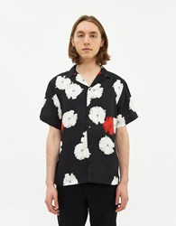 Saturdays Surf Nyc Canty Moon Flower Short Sleeve Shirt In Black Size Small