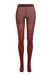 Sonia Rykiel Striped Tights Red