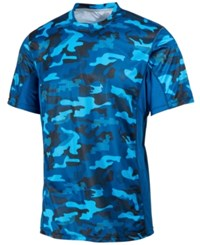 Ideology Id Men's Performance Camo Print T Shirt Only At Macy's Salt Water Blue