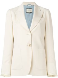 Gucci Two Button Blazer Nude Neutrals