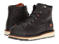 Timberland Gridworks 6 Alloy Safety Toe Boot Black Full Grain Leather Men's Work Boots
