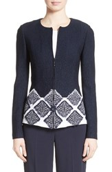 St. John Women's Collection Ahem Knit Fil Coupe Jacket