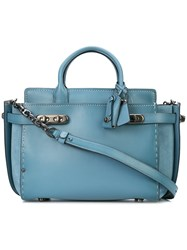 Coach Double Swagger Tote Blue