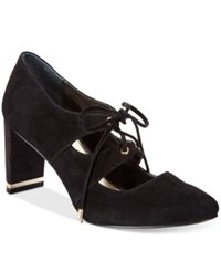 Alfani Prima Bindii Lace Up Pumps Only At Macy's Women's Shoes Black