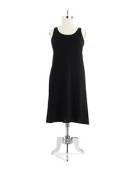 Lord And Taylor Long Tank Chemise Black