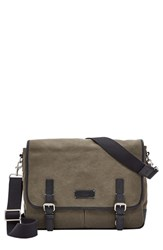 Men's Fossil 'Graham' Canvas Messenger Bag Green Olive
