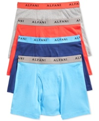 Alfani Men's Boxer Briefs 4 Pack Blue Coral