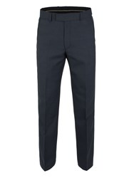 Pierre Cardin Men's Plymouth Blue Check Trouser Navy