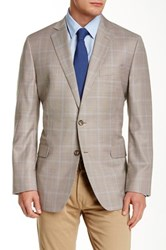 Brooks Brothers Houndstooth Notch Lapel Two Button Wool Jacket Brown