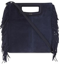 Maje The M Suede Cross Body Bag Marine