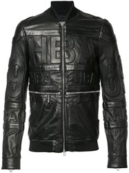 Hood By Air Leather Bomber Jacket Black