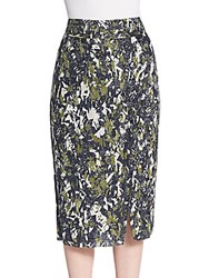 Jason Wu Beaded Pencil Skirt Navy Basil