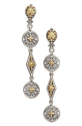 Konstantino Women's 'Penelope' Linear Drop Earrings Silver Gold