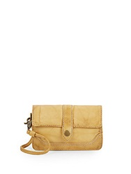 Frye Campus Leather Wristlet Banana