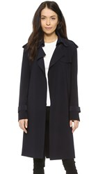 Norma Kamali Kamali Kulture Double Breasted Trench Coat Midnight