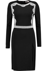 Tory Burch Maci Embellished Stretch Jersey Dress Black