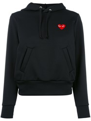 Comme Des Garcons Play Heart Patch Hoodie Black