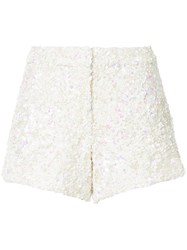 Manish Arora Two Tone Shorts Nylon Polyester White